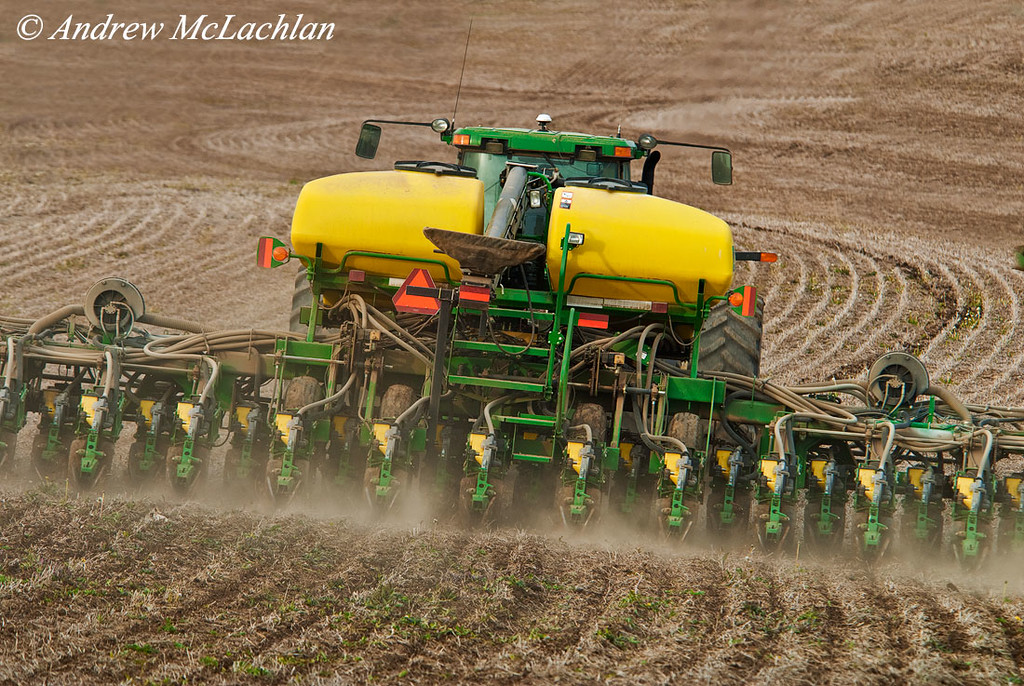 Planting Crop near Cookstown, Ontario, Canada