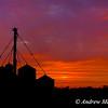 Silos at Sunrise, Thornton, Ontario, Canada