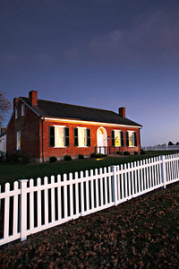 "The 1819 Thomas Hickman House is a historical Missouri treasure located at the University of Missouri Horticulture and Agroforestry Research Center, New Franklin, Mo. One of Missouri's oldest intact brick houses, the Thomas Hickman House, was built in 1819 and stands on the property of the University of Missouri Horticulture and Agroforestry Research Center (HARC). The Research Center, located in New Franklin, Mo., encompasses more than 600 acres of scenic Missouri River Hills landscape and contains numerous varieties of fruit and nut trees and horticultural plantings. A highlight of the Research Center is the Hickman House, which depicts important aspects of early 19th century agricultural living in Missouri. The house was placed on the National Register of Historic Places in 2006. The 1,800 square-foot house represents the southern ""Georgian"" cottage design, a distinctive architectural style that hallmarks the early development of the Boonslick region of Missouri. Thomas Hickman, one of the original settlers of Howard County, was a local businessman who bought the land on which the home rests. The house is just two miles from Old Franklin - the site where William Becknell and his party began the legendary Santa Fe Trail in 1821."
