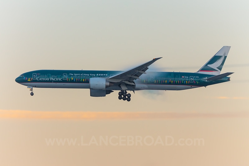 Cathay Pacific 777-300ER - B-KPB - LAX