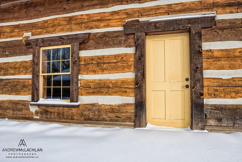 Authentic Log Cabin, Orillia, Ontario, Canada
