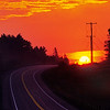 Sunrise on Highway 129 in the Algoma Highlands, Ontario, Canada