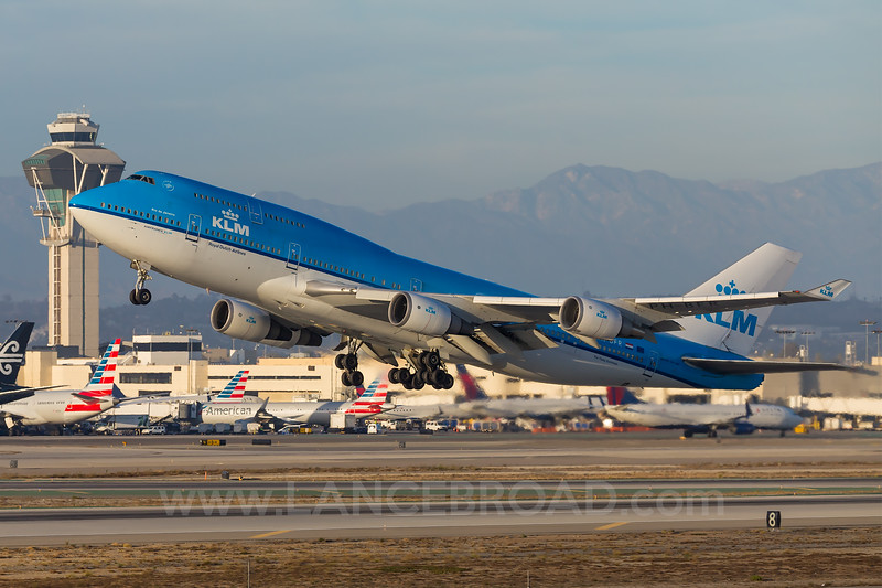 KLM 747-400 - PH-BFR - LAX