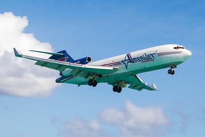 Amerijet 727-200 - N395AJ - SXM