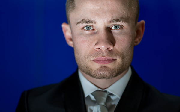 Boxing - Carl Frampton Press Conference - Heron Tower - London Carl Frampton poses for a portrait after the press conference