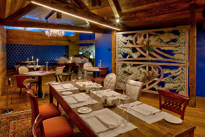 Un Mare Di Neve Restaurant - Breuil Cervinia, Italy.