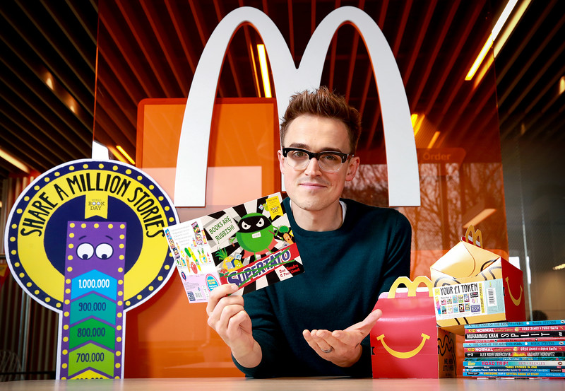 Tom Fletcher is unveiled as the new McDonald's Happy Readers Ambassador