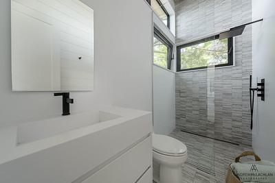 Bathroom in Custom Built Boat House, Muskoka, Ontario, Canada