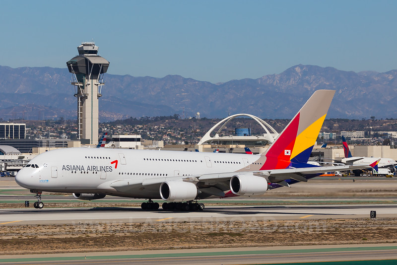 Asiana Airlines A380-800 - HL7635 - LAX