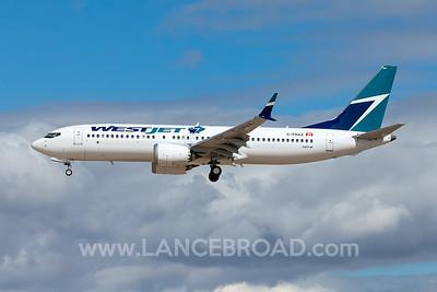 Westjet 737-8 MAX - C-FRAX - LAS