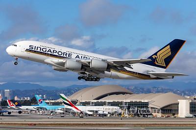 Singapore Airlines A380-800 - 9V-SKT - LAX