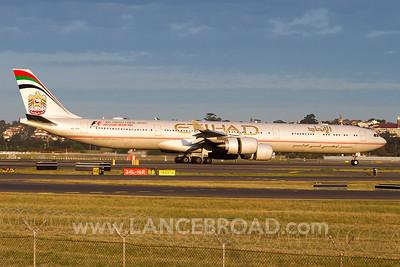 Etihad A340-600 - A6-EHI - SYD