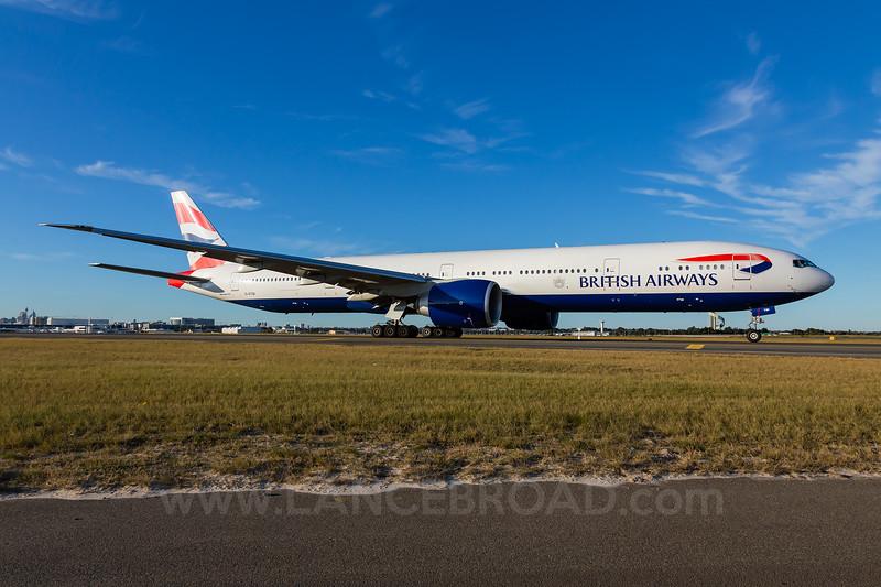 British Airways 777-300ER - G-STBD - SYD