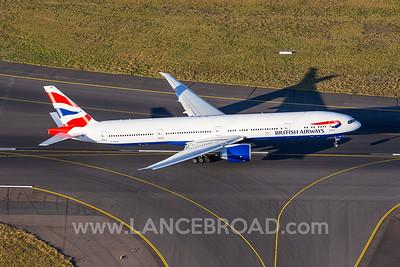 British Airways 777-300ER - G-STBL - SYD