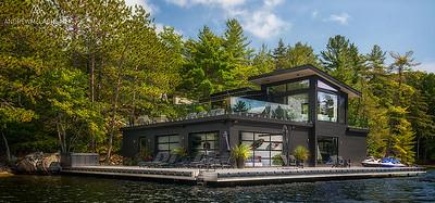 Custom Built Boat House, Muskoka, Ontario, Canada