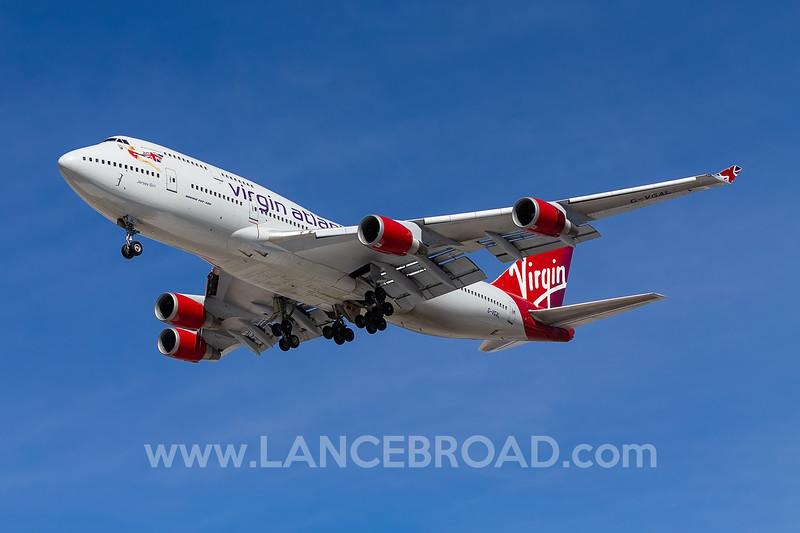 Virgin Atlantic 747-400 - G-VGAL - LAS
