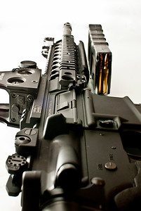 "LMT AR 16"" CQB with EO Tech site and LaRue Tactical mount . TROY back BUIS"