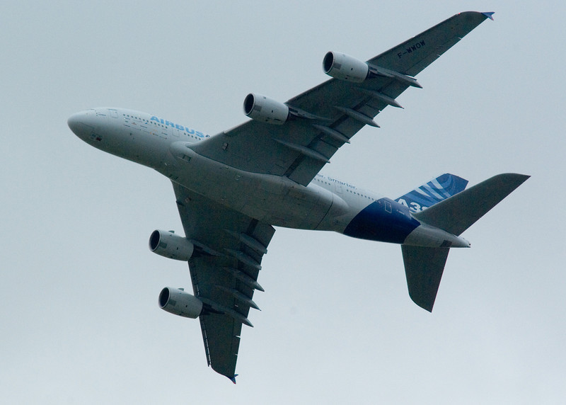 F-WWOW<br /> Airbus A380<br /> Airbus<br /> Edinburgh Airport<br /> 5th September 2009