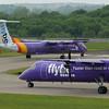 G-JEBD & G-JEDM<br /> Bombardier DHC-8-402<br /> FlyBe<br /> Edinburgh Airport<br /> 13th June 2015
