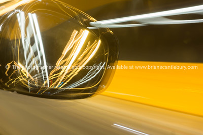 Rear vision mirror abstract