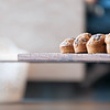 Muffins on office table,