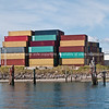 """Tauranga scenics. Stack of multi-coloured containers arranged on Sulphur Point port facility. See;  <a href=""""http://www.blurb.com/b/3811392-tauranga"""">http://www.blurb.com/b/3811392-tauranga</a>"""