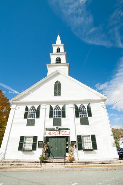 White wooden church,. Newfane, Windom County, Vermont, USA