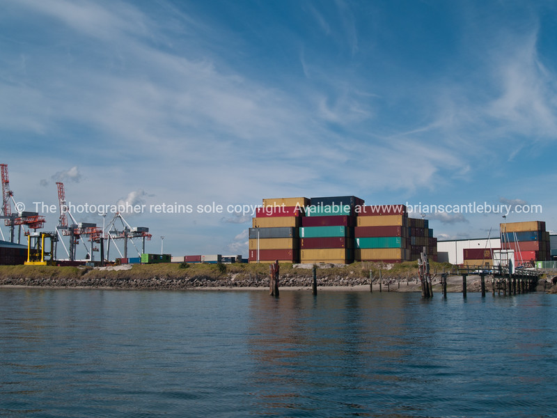 "Tauranga scenics. Shipping container stack with port cranes in background, Sulphur Point, Tauranga. See;  <a href=""http://www.blurb.com/b/3811392-tauranga"">http://www.blurb.com/b/3811392-tauranga</a> mount maunganui landscape photography, Tauranga Photos;"