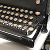 Keys, close up of an old fashioned typewriter.
