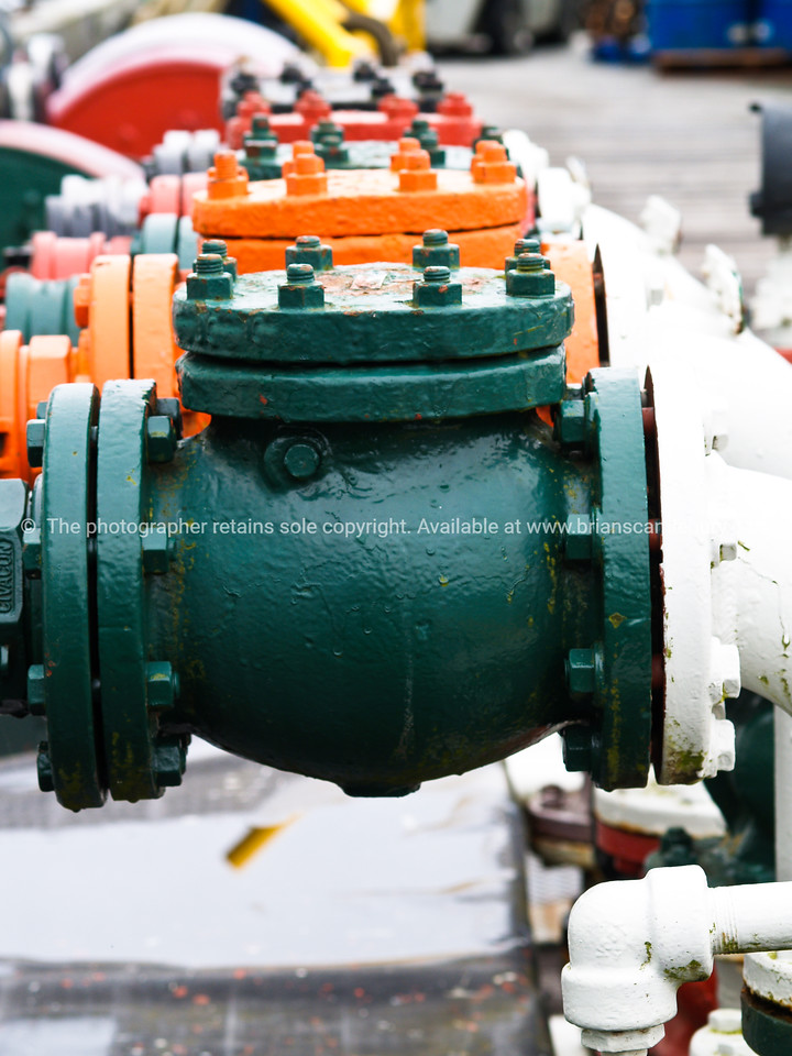 Industrial Valves, multi coloured.