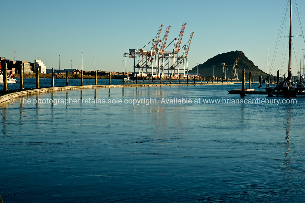 "Port of Tauranga's Sulphur Point facility viewed from the Bridge Marina. New zealand. Tauranga is New Zealands 5th largest city and offers a wonderfull variety of scenic and cultural experiences. Tauranga stock images Tauranga scenics. See;  <a href=""http://www.blurb.com/b/3811392-tauranga"">http://www.blurb.com/b/3811392-tauranga</a> mount maunganui landscape photography, Tauranga Photos;"