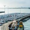 Port of Auckland car import wharf