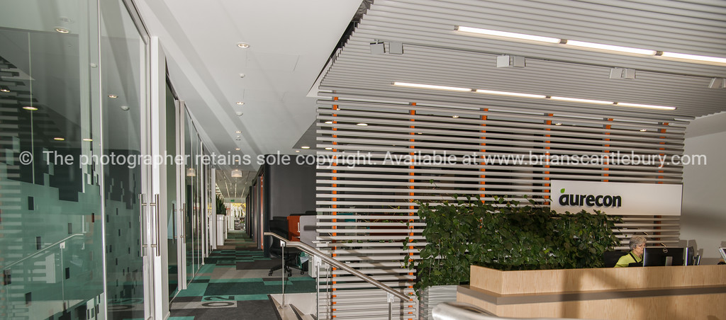Interior and people in one of Tauranga's newest buildings. Priority one shoot.  Model/Property Release; NO. Not for commercial use without permission. Editorial use only without permission.<br /> Aurecon office design