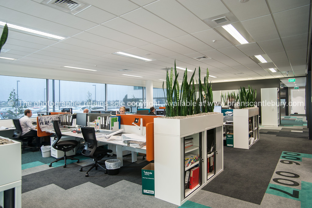 Aurecon office design. Interior and people in one of Tauranga's newest buildings. Priority one shoot.  Model/Property Release; NO. Not for commercial use without permission. Editorial use only without permission.