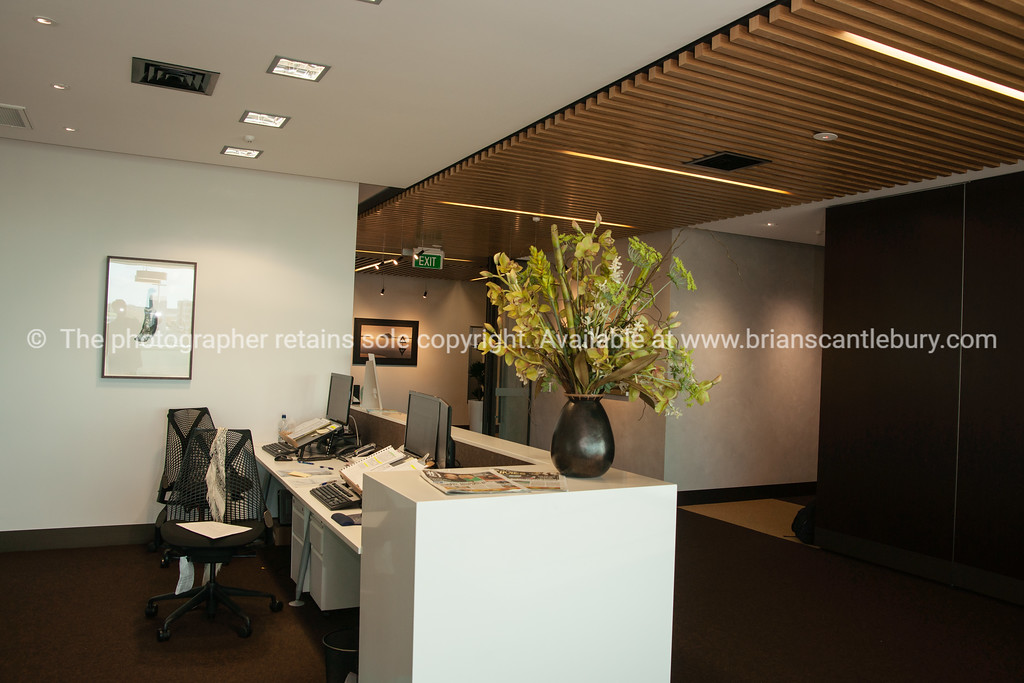 Interior and people in one of Tauranga's newest buildings. Priority one shoot.  Model/Property Release; NO. Not for commercial use without permission. Editorial use only without permission.<br /> CML Lawyers office design.