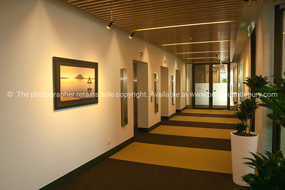 Interior and people in one of Tauranga's newest buildings. Priority one shoot.  Model/Property Release; NO. Not for commercial use without permission. Editorial use only without permission. CML Lawyers office design.