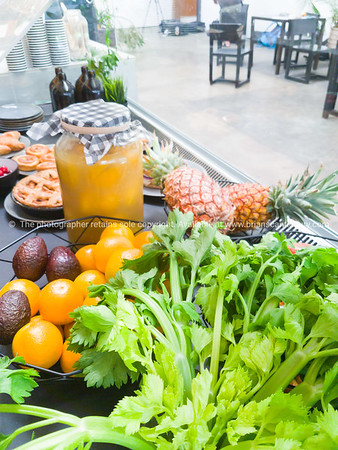fresh food,bakery items and fruit.