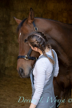 Girl and her horse_148