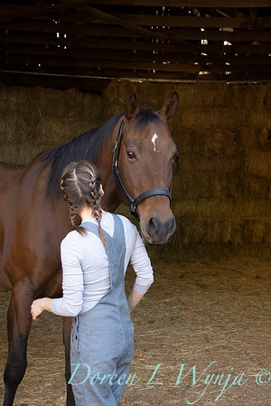 Girl and her horse_140