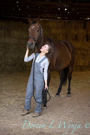 Girl and her horse_146