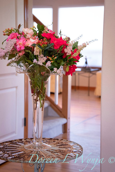 Rosa Knockout - Achillea millefolium - Hypericum arrangement_2139