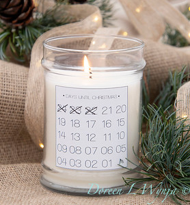 Countdown holiday candle_898
