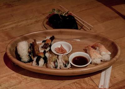 Sushi, shrimp rolls