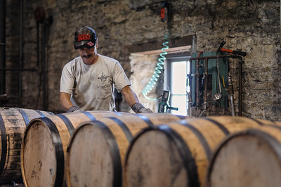 Working in the distillery