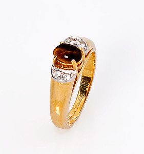 Brown Stone diamond ring IMG_0001_3