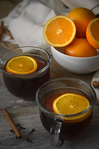 Hot Tea with Oranges