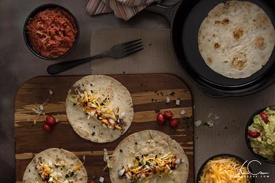 Top down viwe of Tacos
