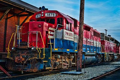 Rail America train engine