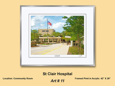 Outpatient Center Peters Township  Community Artwork and  Neighborhood Scenes