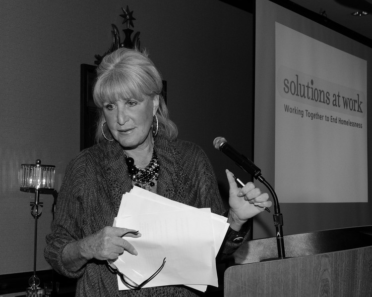 Susan Wornick, anchorwoman and reporter.<br /> Fundraiser: Solutions at Work, Working Together to End Homelessness